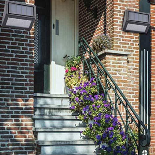 Omabeta Lámpara de Pasillo de luz de Escalera Duradera Impermeable Resistente a la corrosión para escaleras para Patio