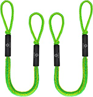 Obcursco Jet Ski Bungee Dock Lines, Bungee Docking Rope, Stretchable Bungee Cords Line. Ideal for Kayak,Jet Ski, PWC, Watercraft, SeaDoo, Yamaha WaveRunner, Pontoon
