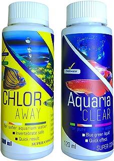Aquatic Remedies Aquatic Remedies Chlor Away & Aquaria Clear Combo(100ML & 120 ML), 220 milliL (Pack of 2)