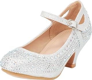 e5ee7785d9e Cambridge Select Girls  Crystal Rhinestone Mary Jane Low Kitten Heel Pump  (Toddler Little