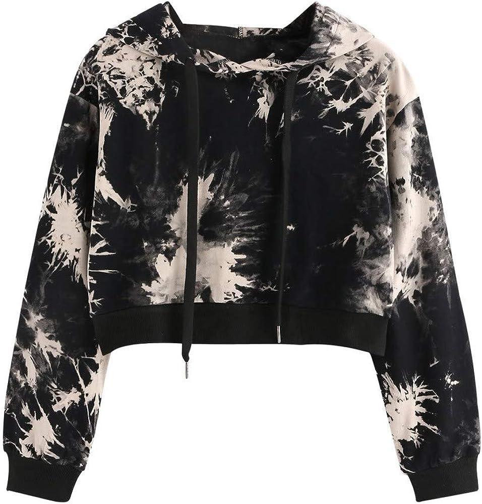 Girls' Hoodie, Misaky Spring Fall Casual Ink Style Print Long Sleeve Hooded Pullover Sweatshirt Blouse Tops