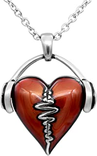 HeartBeat Heart Necklace with Pendant (17
