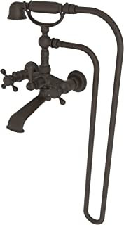 Newport Brass 934 Chesterfield Wall Mounted Clawfoot Tub Filler with Handshower, Oil Rubbed Bronze