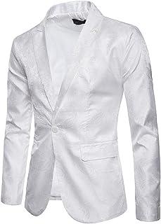 Zytyeu Men Jacket Slim Fit Men Blazers Modern Leisure Lightweight Modern Button Lapel Chic Jacket Men Business Wedding Par...