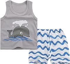 JanLEEsi Baby Vest and Shorts Infant Summer Clothing Set Tank Tops