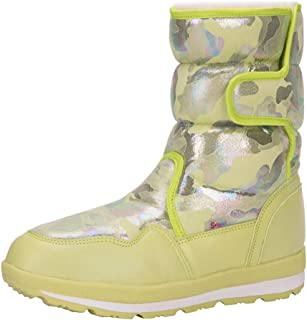 ◕。 Women Girls Waterproof Outdoor Slip Resistant Cold Weather Camouflage Snow Boots Plus Velvet Keep Warm