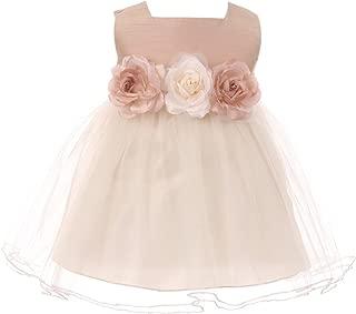 Baby Girls Elegant Square Neckline Tulle Party Infant Toddler Flower Girl Dress