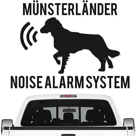 Siviwonder Jack Russell Noise Alarmsystem Auto Aufkleber Hund Folie Jrt Russel Farbe Rot Größe 10cm Auto