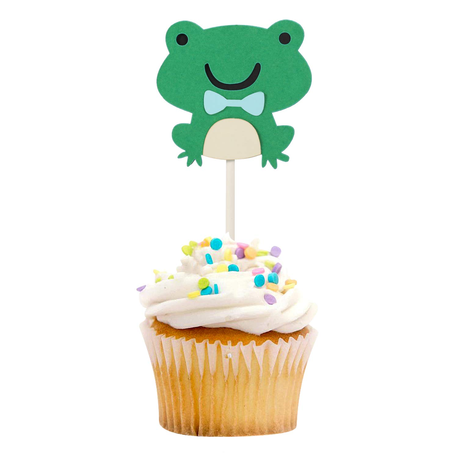 24 Frog Party Theme Fairy Cup Cake Toppers Edible Birthday Party Decorations