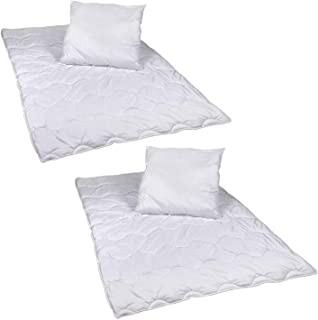Wagner Texti 4 teiliges Premium Bettenset Allergiker geeignet Steppbett Steppbettdecke Bettwäsche Bettdecke 2X 135x200 cm & Kopfkissen 2X 80x80 cm