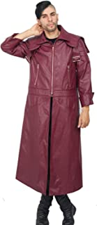 X-COSTUME Men`s Devil May Cry V 5 Dante DMC 5 Leather Jacket Overcoat Game Anime Cosplay Costume