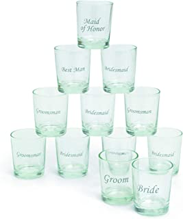Etched Glass Wedding Party Shot Glasses (1 dz)
