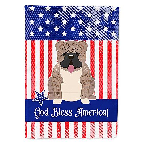 Patriotic USA gris Brindle Bulldog Inglés bandera lona casa tamaño bb3121chf