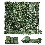 Sposuit Red de camuflaje de camuflaje de 3 x 6 m – Red militar de camuflaje, cobertura de caza persiana, suministros de fiesta excedentes decoraciones