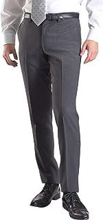 【MARUTOMI】スラックス スリム メンズ ノータック ローライズ クールビズ 春夏秋 パンツ ストレート スラックス ウォッシャブル ビジネス 洗える 【裾上げテープ付属】 pants PSB50