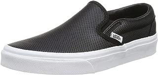 Vans Unisex Classic Slip-On? (Perf Leather) Black Mens 8, Womens 9.5 Medium