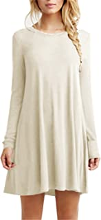 TINYHI Women's Casual Plain Fit Flowy Simple Swing...