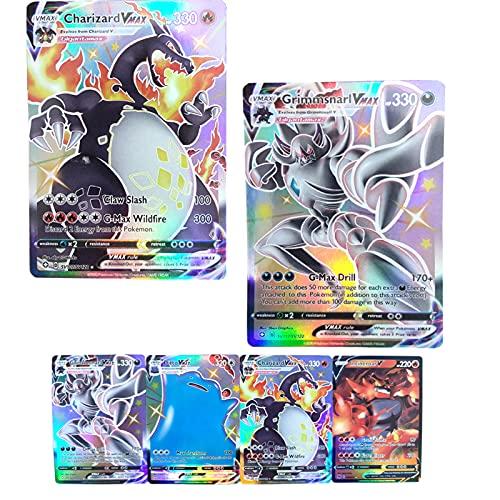 BULANUO 20 Cartes Pokémon, V VMAX GX Flash Trading Puzzle Jeu de Cartes Amusant 2020 Nouveau / 17 V + 3 VMAX