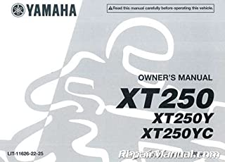 LIT-11626-22-25 2009 Yamaha XT250 Motorcycle Owners Manual