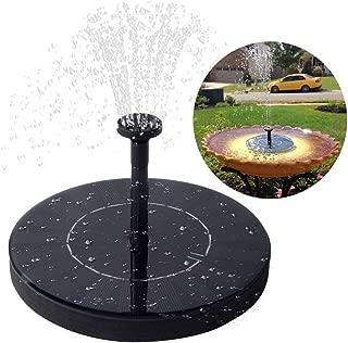 Immuson Solar Fountain Pump, Free Standing Bird Bath Fountain Water Pump, 1.4W Outdoor Floating Fountain Pump Kit for Garden, Pool, Pond, Patio Ideal Decoration