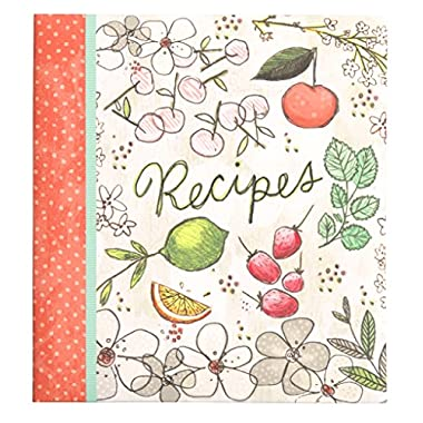 C.R. Gibson Recipe Book, Durable 3-Ring Binder, Holds 40 Recipe Cards Measuring 4  x 6 , Book Measures 9  x 9.5  − Fruit Fusion