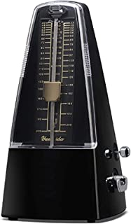 Traditional Mechanical Metronome for Piano High Accuracy Tempo Range 40~208bpm for Musicians Metronome for Guitar Drums/Bass/Track Tempo and Beat Beginners By Elrido (Black)
