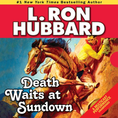 Death Waits at Sundown audiobook cover art