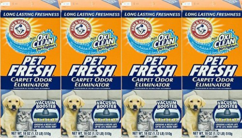 4 Pk, Arm & Hammer Pet Fresh Carpet Odor Eliminator Plus Oxi Clean Dirt Fighters