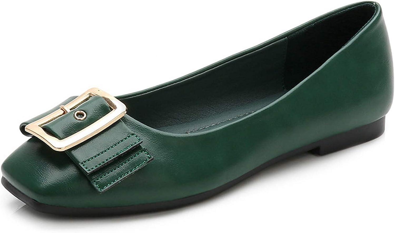 Litllin Green shoes Comfort shoes Leather Loafers Women Black Flats Harajuku shoes Flat shoes Women 2036