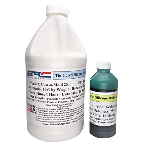 Cast-A-Mold 25T Silicone Rubber (1/2 Gallon)