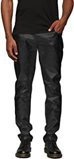 Mens Metallic Shiny Jeans Party Dance Disco Nightclub Pants Straight Leg Trousers