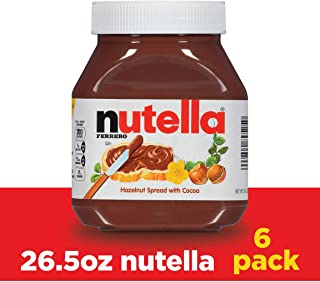 sizes of nutella jars