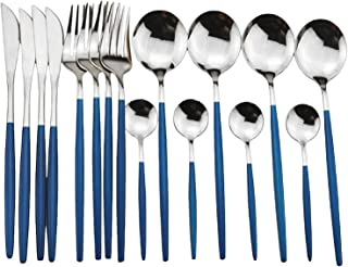 Couverts Ensembles Couverts Ensemble 304 Vaisselle En Acier Inoxydable Ensemble Or Vaisselle Cuisine Argenterie Miroir Col...