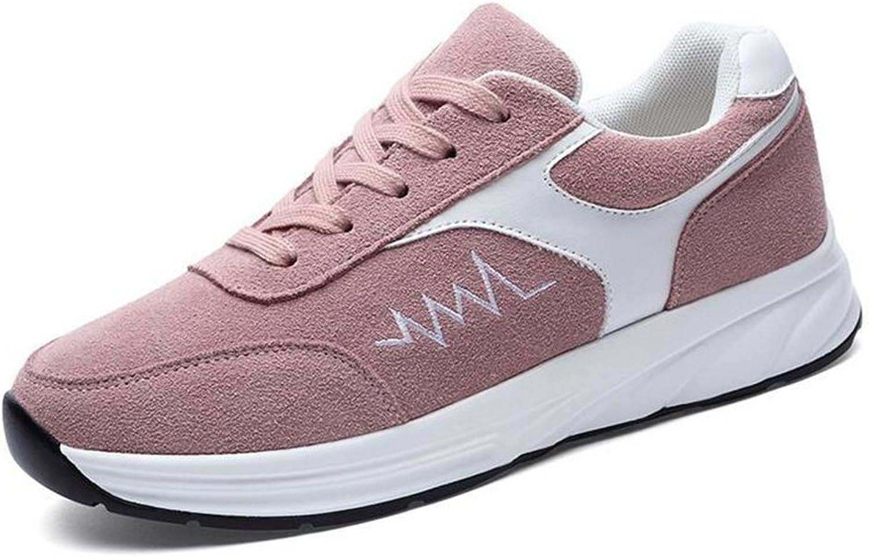 Damenschuhe Nubuk Spring Herbst Komfort Leuchten Schuhe, Turnschuhe aus Leder, Freizeitschuhe, Flache Ferse Lace-up
