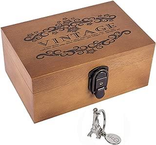 SICOHOME Wooden Keepsake Box, 8.5