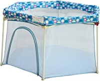 Playpen Baby Infant Portable Fence Washable Playground Kids Safety CrawlProtective Activity Center Nontoxic Protector Mater Pop N Infant Play '57' x29.5 '' (Blue)