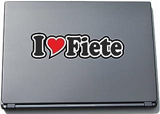 INDIGOS UG - 'I Love Serce' Naklejka Skóra laptopa 297 mm - I Love - I Love Fiete - Laptop netbook komputer - naklejka z i...