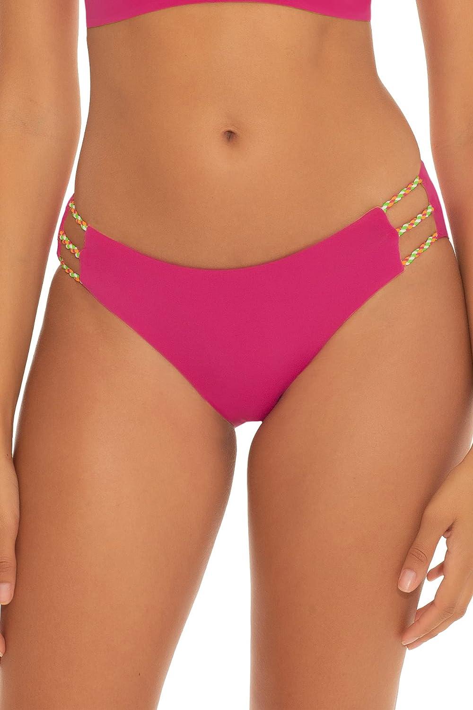 Becca by Rebecca Virtue Women's Sara Reversible Tab Side Hipster Bikini Bottom