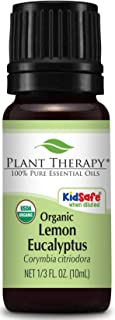 Plant Therapy Lemon Eucalyptus Organic Essential Oil 100% Pure, USDA Certified Organic, Undiluted, Natural Aromatherapy, Therapeutic Grade 10 mL (1/3 oz)