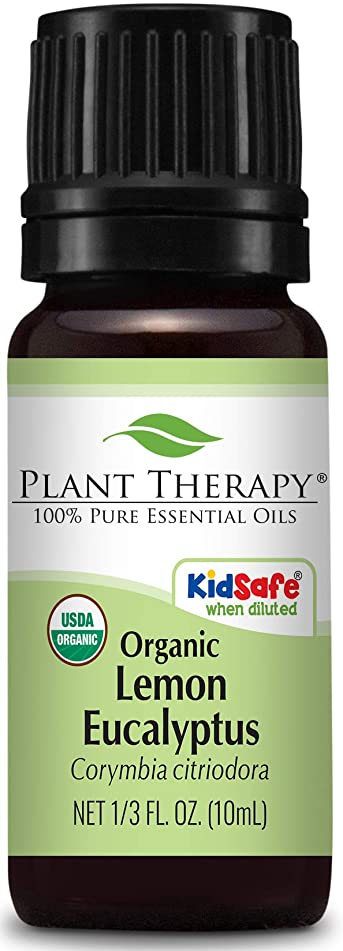 構造予知ローマ人Plant Therapy USDA Certified Organic Eucalyptus Lemon Essential Oil. 100% Pure, Undiluted, Therapeutic Grade. 10 ml (1/3 oz). by Plant Therapy