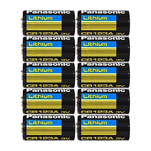 Panasonic CR123 CR123A 3V Lithium Battery (10 Pack)
