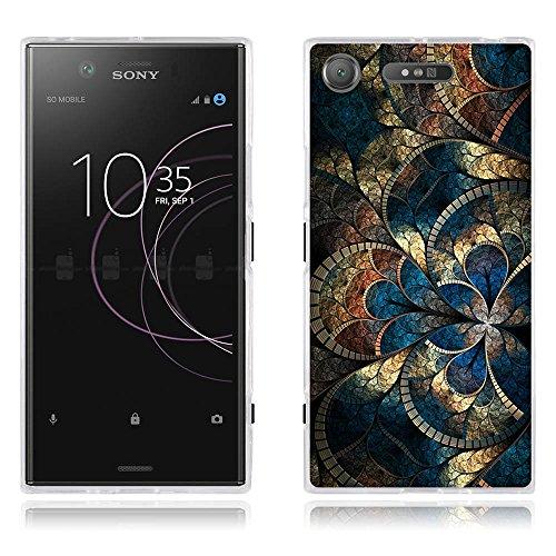 "Hülle für Sony Xperia XZ1, Ultra Dünn Soft Silikon Schutzhülle -FUBAODA- Elegant Zeichnung [Mandala], Hochwertige Gummi Schutzhüllen, Handyhülle für Sony Xperia XZ1 (5.2"")"