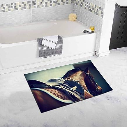 Horse Non Slip Bathroom Mat Bath Rug,