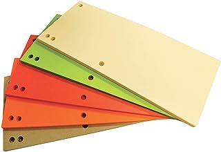 Office Products 21070035–99–Divisori in cartoncino riciclato da, 1/3A4, 235x 105mm, 100pz, colori assortiti