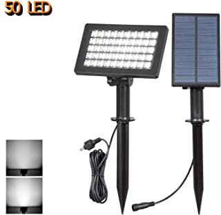 led lights with separate solar panel