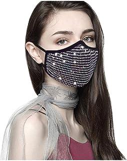 Aadiju Reusable Dustproof Halloween Masquerade Rhinestone Crystals Mask for Women
