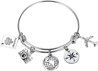 travel charm bracelet