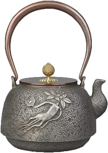 MINBAO Main Fait à la Main Vieux Fer Eau Bouillie Poêle à thé électrique Pot de Fer Kung Fu Ensemble de thé Bouilloire Poêle électrique en Fonte pour Cuisiner Théière