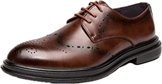 Zapatos Brogue para Hombre, Zapatos Derby de tacón bajo Retro, Zapatos de Cuero Suave para Novio, Zapatos de Negocios con ...