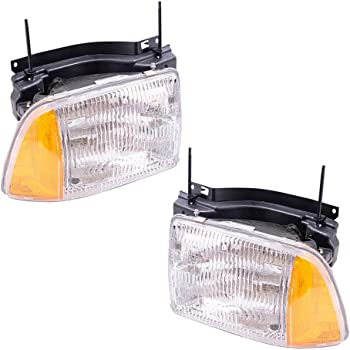 amazon com chevy blazer replacement headlight assembly composite type 1 pair automotive chevy blazer replacement headlight